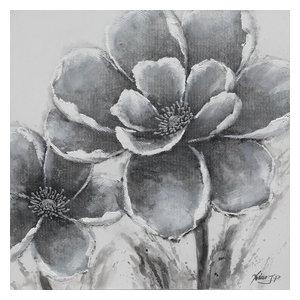 """""""White Garden"""" Oil Painting, 100x100 cm"""