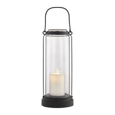 Fillmore Outdoor LED Table Lantern, Black
