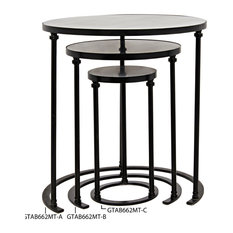 Molly Side Table, C, Metal and Stone