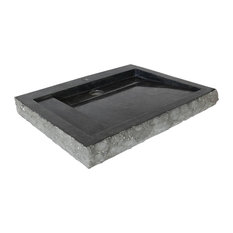 Oblik Marble Vessel Sink, Black