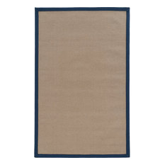 """Linon Athena 8'9"""" x 12' Transitional Wool Rug, Cork and Blue"""