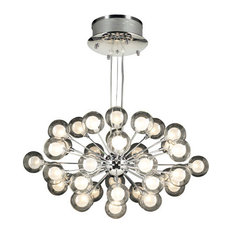 PLC Lighting 72108-Pc Chandeliers Coupe, Polished Chrome