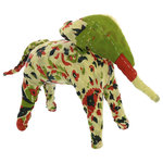 Homart - Kantha Elephant - The most popular form of embroidery practiced by rural women, the Kantha stitch is run over several layers of old sari fabric to make a thin piece of fabric thicker. Using remnants of vintage fabric each Kantha Animal will be unique in color, pattern