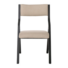 gdfstudio minric latte color foldable chair folding chairs and stools