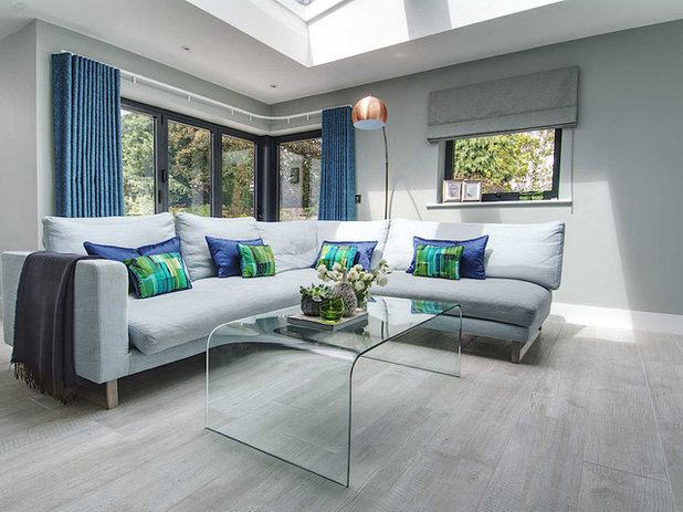 Contemporary Family & Games Room by Tricia Carroll Designs