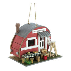 Summerfield Terrace - Vintage Trailer Birdhouse - Birdhouses