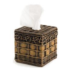 Boutique Wicker Tissue Box Cover, Standard