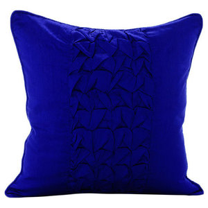 Electric Blue Knots, Blue Art Silk 60x60 Pillow Shams