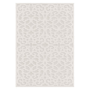 "Orian Boucle Indoor/Outdoor Seaborn High-Low Area Rug, Ivory, 7'9""x10'10"""