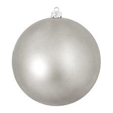 """Shatterproof Matte UV Resistant Commercial Ornament, Light Gunmetal Gray, 8"""""""