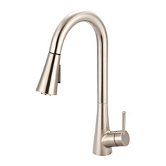 i2 Single Handle Pull-Down Kitchen Faucet, Pvd Brushed Nickel