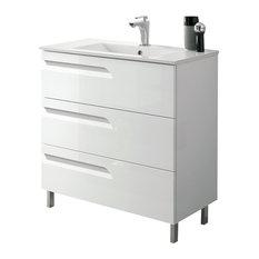 """Eviva Vitta 24"""" Bathroom Vanity With Sink, White"""