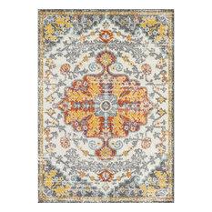 L'Baiet Freya Indoor Yellow Traditional Oriental 8' x 10' Fabric Area Rug
