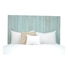 Handcrafted Headboard, Leaner Style, Baby Blue, King