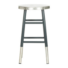 Kenzie Silver Dipped Counter Stool, Gray