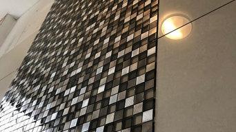 Bathroom tiling with mosaic
