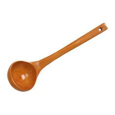 "Healthy Wooden Long Handle Soup Ladle, Cooking Spoons, 28cm, 11"""