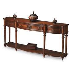 Adelaide Vintage Console Table, Medium Brown