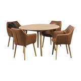 Nagane Round Table And 4 Nori Chairs