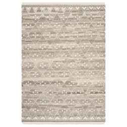 Transitional Area Rugs Chianna Flat-Weave Rug, Natural and Ivory