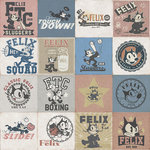 Del Conca - Felix the Cat Assorted Decorative Tiles, Remember Felix Set of 29 - These assorted decorative tiles come mixed in a box. They are sold by the full box and are made in Italy our of durable porcelain tile that can be used on walls or floors. Add a great conversation piece to your home with Felix the Cat! These tiles are produced in honor of Felix the Cat's 100th Anniversary. There are 29 Pieces to a box which covers approximately 12.48 square feet.