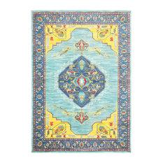 Oriental Weavers   Oriental Weavers Joli 564L4 Blue/ Yellow Oriental Area  Rug, 6u0027