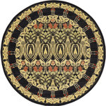 Unique Loom - Unique Loom Carnation Edinburgh, Black, 6'x6', Round - The classic look of the Edinburgh Collection is sure to lend a dignified atmosphere to your home. With an array of colors and patterns to choose from, there�s a rug to suit almost any taste in this collection. This Edinburgh rug will tie your home�s decor together with class and amazing style.