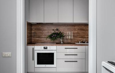Поиск планировки: «Однушка» с кухней в коридоре и зоной для йоги