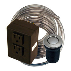 Disposal Air Switch and Dual Outlet Control Box, Satin Nickel