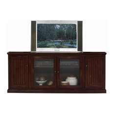 Eagle Furniture 80-inch Thin Entertainment Console Caribbean Rum Without Hutch