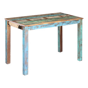 vidaXL Solid Reclaimed Wood Dining Table, 115x60x76 cm