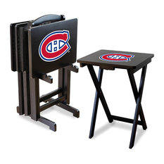 Montreal Canadiens TV Trays With Stand, Set of 4