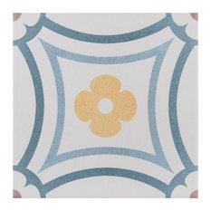 "SomerTile 7.88""x7.88"" Caprice Porcelain Floor and Wall Tile, Saint Tropez"