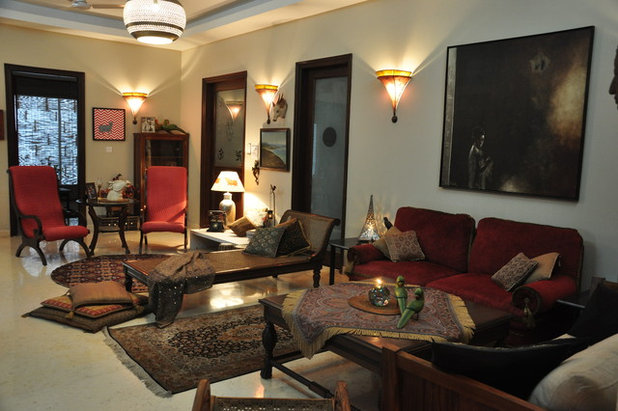 Indian Living Room by Monica Khanna Designs