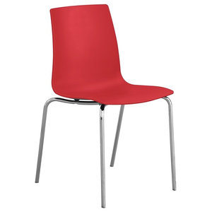 Stompa Kitchen Dining Chair, Red