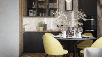 Кухня-гостиная 25 кв.м