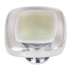 Reflective Soft Green Knob, Polished Chrome Base