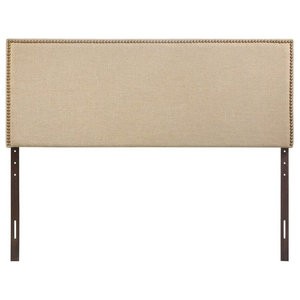 Lewis Tufted Wingback Headboard Transitional