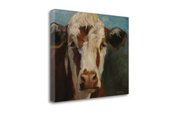 """""""Pearl Cow Painting"""" By Cheri Wollenberg, Giclee Print on Gallery Wrap Canvas"""