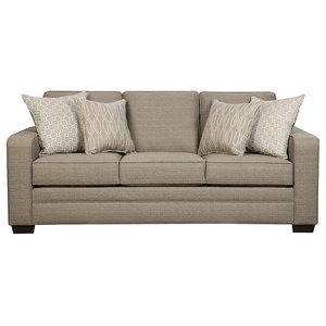 Simmons Upholstery Harlow Ash Sofa Transitional Sofas