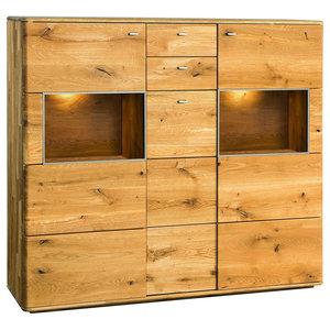 Dallas II Assembled Large Solid Wood Display Sideboard