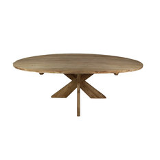 Cross Oval Dining Table, Medium