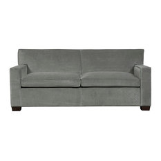 Duralee Furniture - Warren Tight Boxed Back Loveseat, Jewel - Loveseats