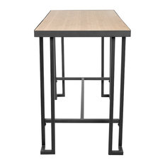LumiSource Roman Industrial Counter Table, Gray, Natural