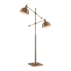 Cupola 2-Light Floor Lamp Brushed Brass