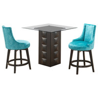 Lansdale 3 Piece Counter Height Kitchen Dining Set