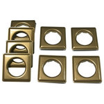 """Fast-Set Metal, #12 Square Gromet, 1 9/16"""", 8 Sets, Antique Brass - These Antique Brass Fast-set #12 Square metal grommets are light duty with an inside diameter of 1 9/16"""", requires only 1/4 of the force to set vs. regular grommets. Corrosion resistant, easy setting."""