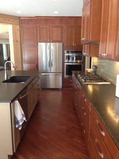 Definitely Continue Hardwood Into Kitchen If Open Floor Plan. I Have No  Regrets.