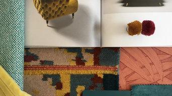 Moodboard Sitzmöbel und Textilien
