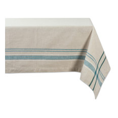 "DII Teal French Stripe Tablecloth 60""x84"""